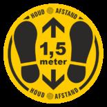 Corona-stickers Covid 19 Vloersticker geel