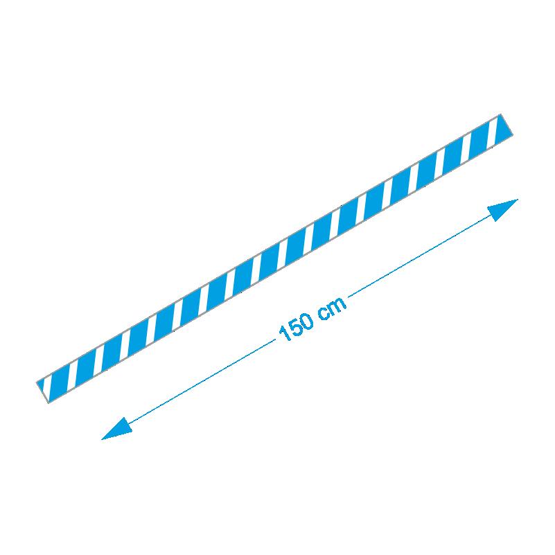 Vloer-markering-sticker-blauw-wit