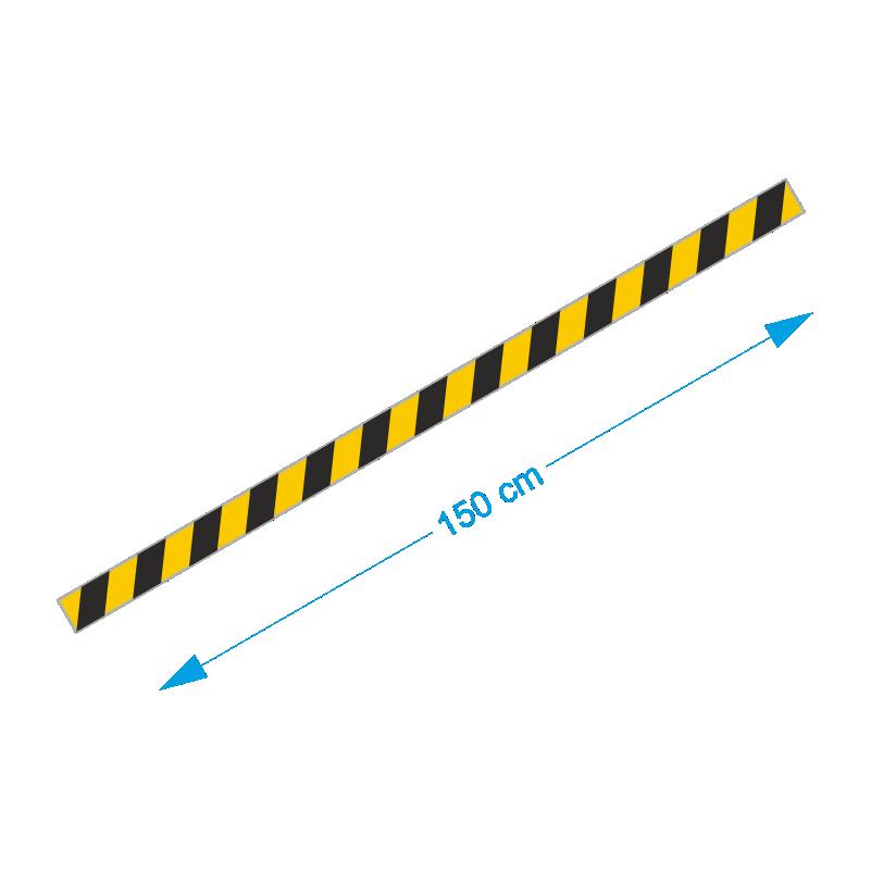 Vloer-markering-sticker-geel-zwart