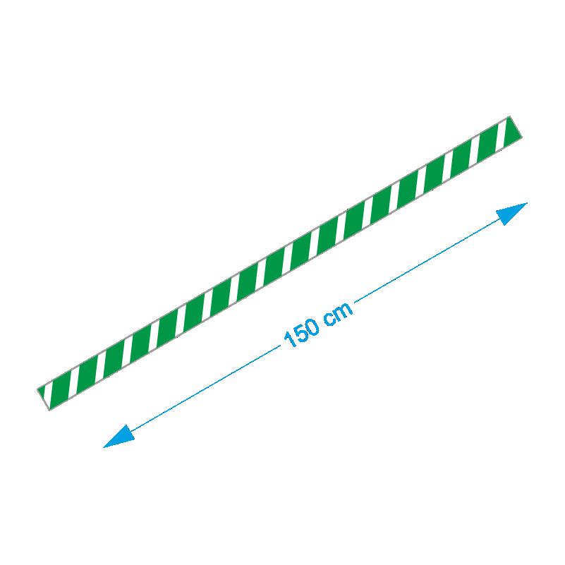 Vloer-markering-sticker-groen-wit