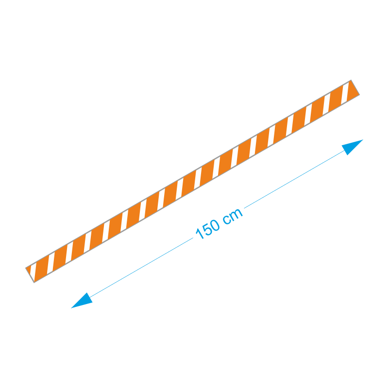 Vloer-markering-sticker-oranje-wit