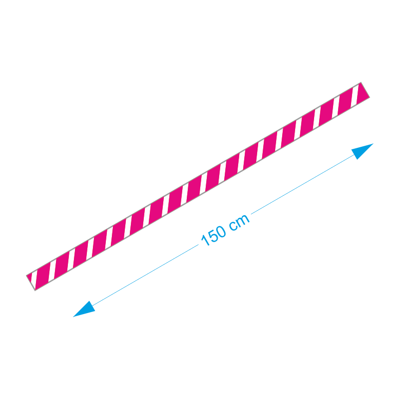 Vloer-markering-sticker-roze-wit