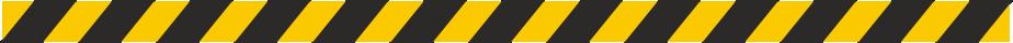Vloer-markering sticker strook 125 x 5 cm geel - zwart